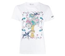 T-Shirt mit Vogelmotiv