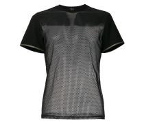 T-Shirt mit Netzeinsatz