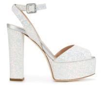 'Betty Glitter' Plateau-Sandalen
