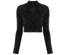 Cropped-Pullover aus Faux Fur