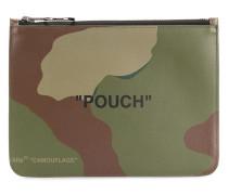Clutch mit Camouflage-Print