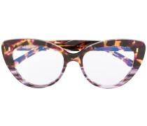 Cat-Eye-Brille in Schildpattoptik