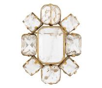 Geometrische Brosche mit Kristallen
