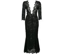 plunge lace dress