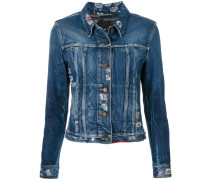 Schmale Distressed-Jeansjacke