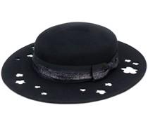 Kiki glitter-trimmed cutout hat