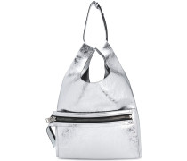 futuristic zupped shoulder bag
