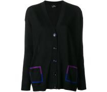 contrast pocket cardigan