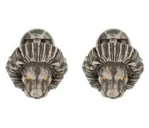 'Lion' Manschettenknöpfe mit Kristallen