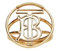 Vergoldeter Ring mit Logo