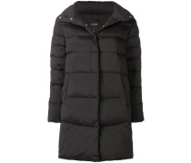padded high neck coat