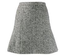 Tweed-Rock mit Fischgrätenmuster