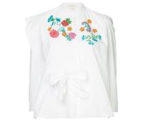 Bluse mit Blumenstickereien