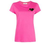 T-Shirt mit Herz-Stickerei