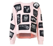 'Stabat It' Sweatshirt mit Patches