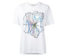 T-Shirt mit Blumen-Applikation