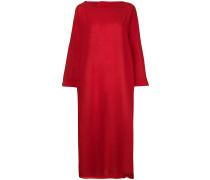 notched collar maxi dress