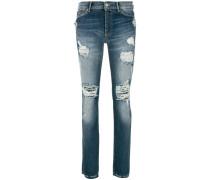 Gerade Jeans in Distressed-Optik
