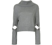 cut-out sleeve jumper