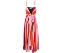 striped knot detail dress