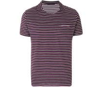 Gestreiftes T-Shirt mit Kragen