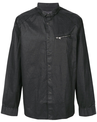zip-detail fitted shirt