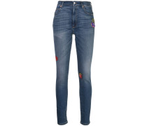 patches skinny-fit jeans