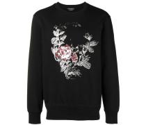 Sweatshirt mit Rosen-Print