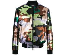 Bomberjacke mit Camouflagemuster