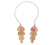 Twin acanthus leaf necklace