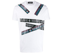 T-Shirt mit Logo-Streifen