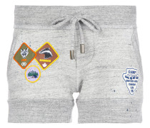 track shorts with patch appliqué