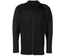 ribbed zipped jacket
