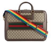 GG Aktentasche mit Regenbogen-Riemen