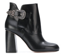 side buckle embellished boots