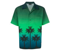 Hawaiihemd mit Palme-Print