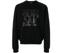 'Run Dan' Sweatshirt mit Pailletten
