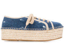 Espadrille-Sneakers mit Plateausohle