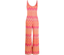knitted zig-zag jumpsuit
