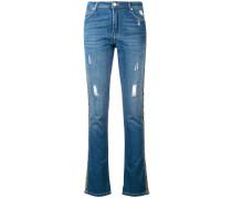 embellished stripe jeans