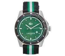 DURBAN Uhr silberfarben/schwarzgrünweiß