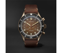 Pilot Cronometro Tipo Cp-2 Automatic 43mm Bronze And Nubuck Watch - Brown