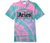 Temple Tie-dyed Cotton-jersey T-shirt