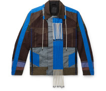 Quilted Panelled Cotton-poplin And Shell Jacket - Blue