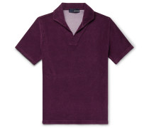 Slim-Fit Cotton-Blend Terry Polo Shirt