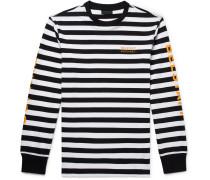 + Sophnet Slim-fit Logo-print Striped Cotton-jersey T-shirt - Black