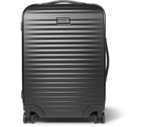 Leather-trimmed Polycarbonate Carry-on Suitcase