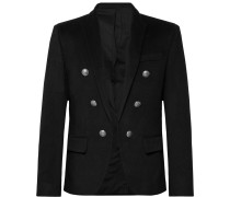 Black Slim-fit Cashmere Blazer