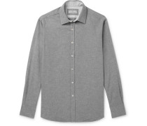 Brushed-cotton Shirt - Gray