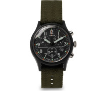 Mk1 Chronograph Aluminium And Nylon-webbing Watch - Black